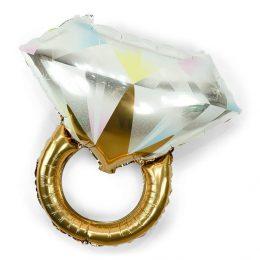 Μπαλόνι Διαμαντένιο Μονόπετρο Χρυσό
