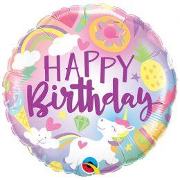 Μπαλόνι Fantastical Fun Birthday Μονόκερος