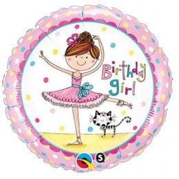 Μπαλόνι Happy Birthday μπαλαρίνα