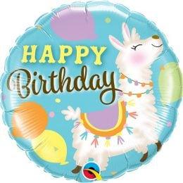 Μπαλόνι Happy Birthday Λάμα