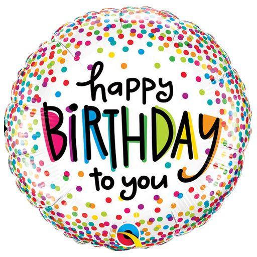 Μπαλόνι Happy Birthday πολύχρωμα πουά