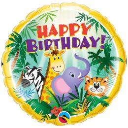 Μπαλόνι Happy Birthday Ζώα της Ζούγκλας