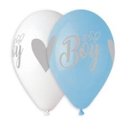 Μπαλόνι It's a Boy ασημί εκτύπωση