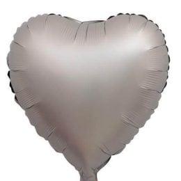 """Μπαλόνι Καρδιά Ασημί Chrome 18"""""""