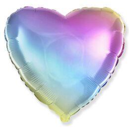 Μπαλόνι Καρδιά παστέλ Ουράνιο Τόξο