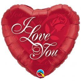 """Μπαλόνι Κόκκινη Καρδιά """"I Love You"""""""