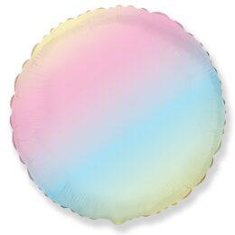 Μπαλόνι στρογγυλό παστέλ Ουράνιο Τόξο