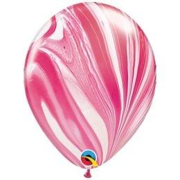 Μπαλόνι SuperAgate φούξια-άσπρο