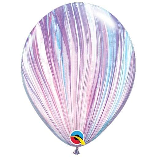 Μπαλόνι SuperAgate λιλά-γαλάζιο-άσπρο