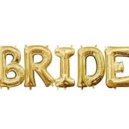 Μπαλόνι χρυσό Bride (5 τεμ)