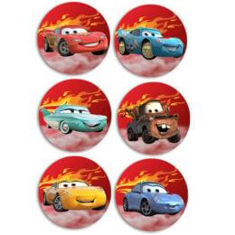 Ξύλινες Κονκάρδες Cars Disney (6 τεμ)