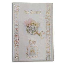 Ευχετήριο Καρτάκι Γάμου Ανθοδέσμη με φακελάκι