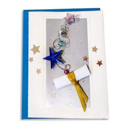 Ευχετήριο Καρτάκι Αποφοίτησης με φακελάκι