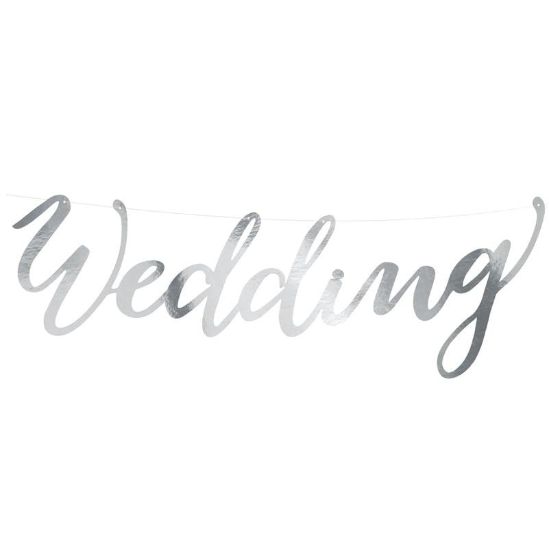 Γιρλάντα γάμου Wedding ασημί
