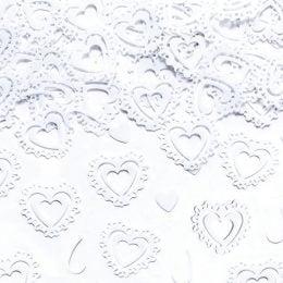 Κομφετί άσπρες Καρδιές 15g