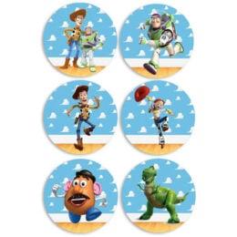 Ξύλινες Κονκάρδες Toy Story (6 τεμ)