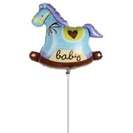 Mini Shape μπαλόνι Κουνιστό Αλογάκι Baby Boy
