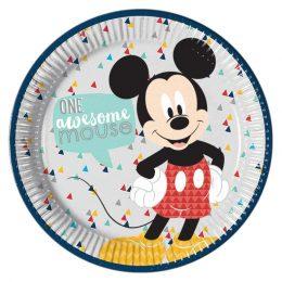Πιάτα φαγητού Mickey Awesome (8 τεμ)