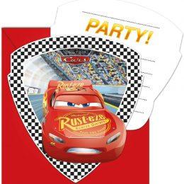 Προσκλήσεις πάρτυ Cars 3 (6 τεμ)