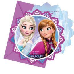 Προσκλήσεις πάρτυ με Φάκελο Frozen Northen Lights (6 τεμ)