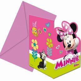 Προσκλήσεις πάρτυ Minnie Happy Helperes (6 τεμ)