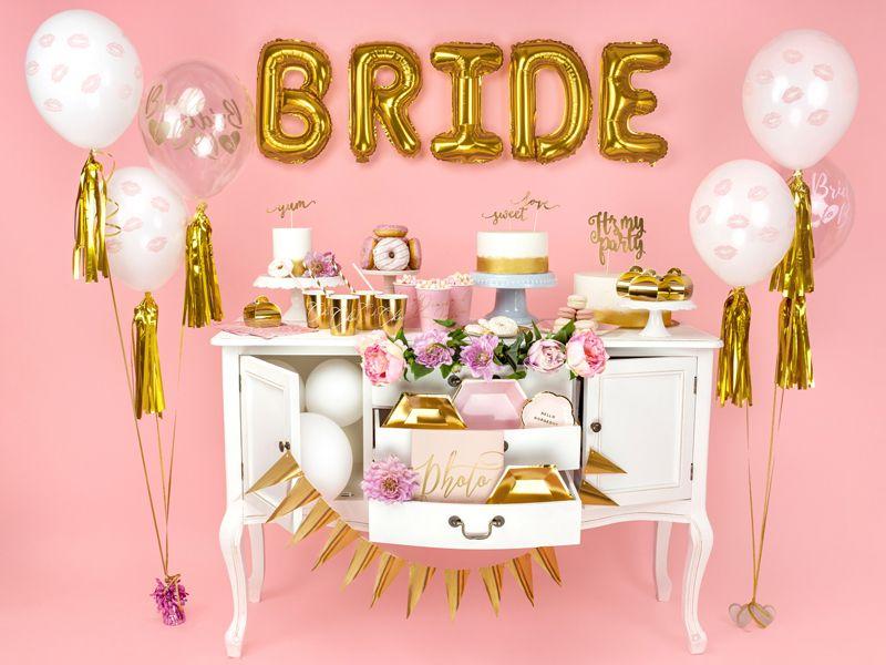 Σετ Διάφανα με ροζ Μπαλόνια Bride to Be (6 τεμ)