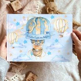 Βιβλίο Ευχών Βάπτισης Αερόστατο Αρκουδάκι