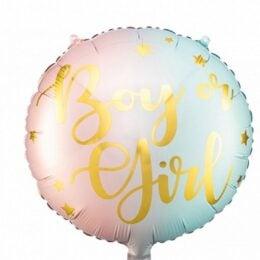 """Μπαλόνι για Gender Reveal """"Boy or Girl"""""""