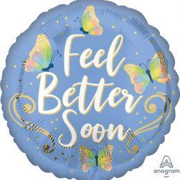 """Μπαλόνι για Περαστικά """"Feel Better Soon"""" Πεταλούδες"""