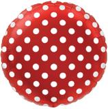 Μπαλόνι Κόκκινο με λευκό πουά