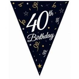 """Μπάνερ γενεθλίων """"40th Birthday"""""""