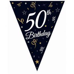 """Μπάνερ γενεθλίων """"50th Birthday"""""""