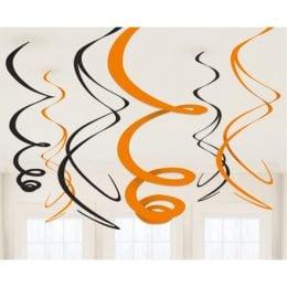 Διακοσμητικά οροφής Swrils Πορτοκαλί - Μαύρο