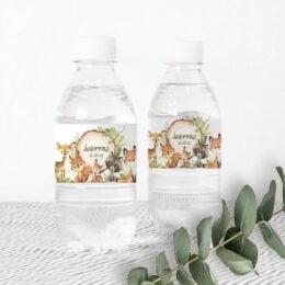 Ετικέτες για μπουκάλια νερού Ζώα του Δάσους