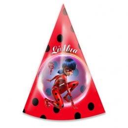 Καπελάκια πάρτυ Miraculous Ladybug (6 τεμ)