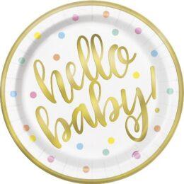Πιάτα πάρτυ Hello Baby (8 τεμ)