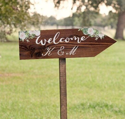 Πινακίδα Γάμου Rustic Wood