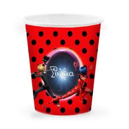 Ποτήρια με όνομα Miraculous Ladybug (6 τεμ)
