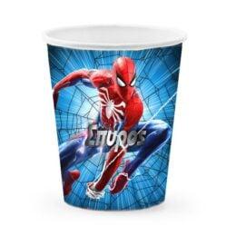 Ποτήρια με όνομα Spiderman (6 τεμ)