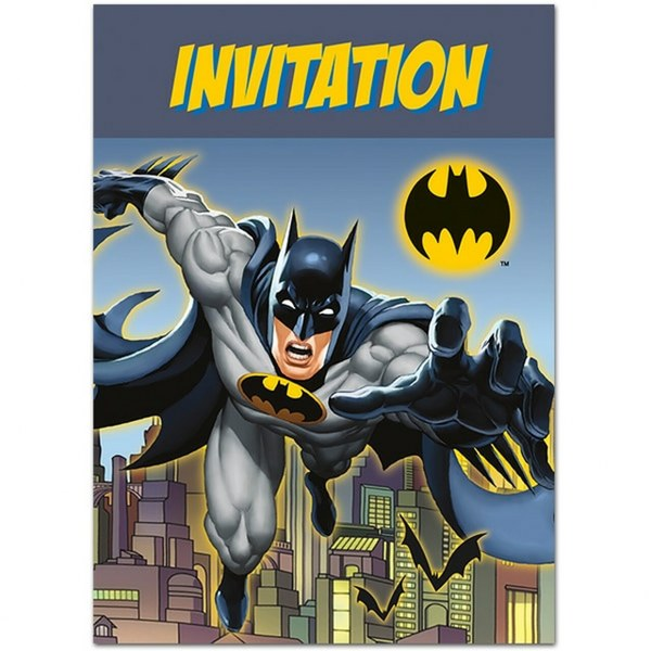 Προσκλήσεις πάρτυ Batman (8 τεμ)