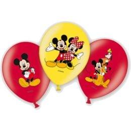 Σετ Μπαλόνια Mickey & Minnie Mouse (6 τεμ)