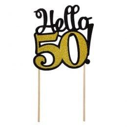 """Topper τούρτας """"Hello 50"""""""