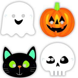 Χάρτινες Μάσκες Halloween Friends (8 τεμ)