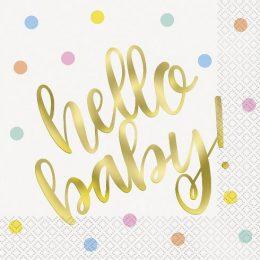 Χαρτοπετσέτες Hello Baby (16 τεμ)