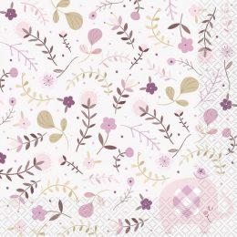 Χαρτοπετσέτες ροζ Ελεφαντάκι (20 τεμ)