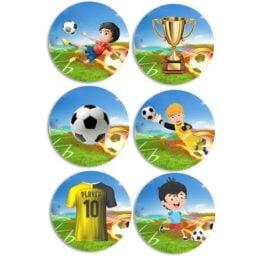 Ξύλινες Κονκάρδες Ποδόσφαιρο (6 τεμ)