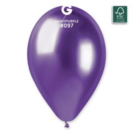 "13"" Shiny Μοβ λάτεξ μπαλόνι"