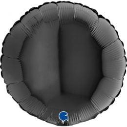 """18"""" Μπαλόνι στρογγυλό Μαύρο"""