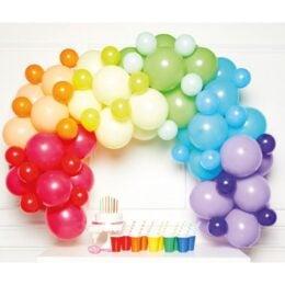 DIY Γιρλάντα με Μπαλόνια Rainbow