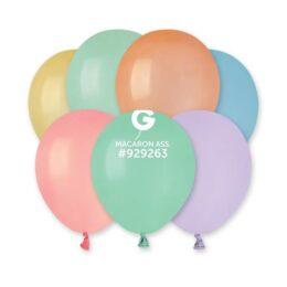 "5"" Macaron Διάφορα Χρώματα λάτεξ μπαλόνια"